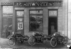 Model T Ford Forum: Old Photo - Model T Era Indian Motorcycle Dealer Storefront