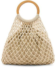 Shop for House of Harlow 1960 x REVOLVE Miki Tote Bag in Natural at REVOLVE. Crochet Fabric, Crochet Tote, Crochet Handbags, Macrame Plant Hangers, Macrame Bag, Handmade Handbags, Handmade Bags, How To Do Crochet, Wooden Bag