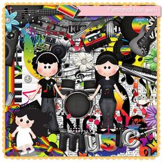 Kit - I love Music by Fa Maura [FaMaura_KitIloveMusic] - $5.60 : FaMaura.com - scrapshop