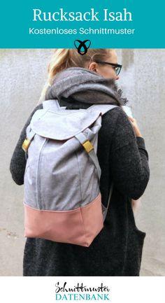 Rucksack nähen / kostenloses Schnittmuster für Erwachsene