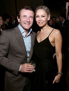 HOLLYWOOD, CA - APRIL 25: TV personality Robert Herjavec (L) and professional dancer Kym Johnson attend the 4th Annual 'Reel Stories, Real Lives', benefiting the Motion Picture & Television Fund at Milk Studios on April 25, 2015 in Hollywood, California.