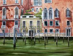 Original Watercolor Painting, Original Watercolor Artwork, Venice Watercolor, Italy Watercolor, 32x24 cm