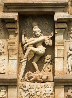 See the divine smiling face of Lord Nataraja (Shiva) in a temple in South India.