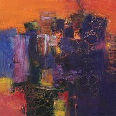 Small Box Painting 1119 - Original Oil Painting - 22.7 cm x 22.7 cm (app. 8.9 inch x 8.9 inch)