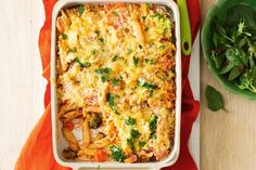 Quick crunchy-topped vegetable pasta bake - Clear out your fridge and freezer with this quick and easy vegetable bake.
