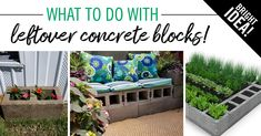 If you have leftover concrete blocks from a construction project, don't throw them away. These building materials have many creative uses in the home. Read more . Concrete Blocks, Cement, Building Materials, Tanzania, Construction, Storage, Creative, Projects, Furniture