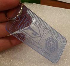 INGRESS Acrylic Keychain  RESISTANCE by JewelsByShari on Etsy