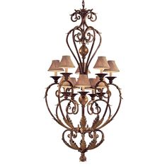 View the Metropolitan N3643 10 Light 2 Tier Candle Style Chandelier from the Zaragoza Collection at LightingDirect.com.