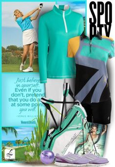 Check out a sporty golf ootd today! For more golf fashion inspiration, go to lorisgolfshoppe.polyvore.com  Visit lorisgolfshoppe.com for more fabulous golf stuff! #polyvore #lorisgolfshoppe