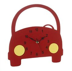 Boys Car Wall Clock  by Pitter Patter Products  £32