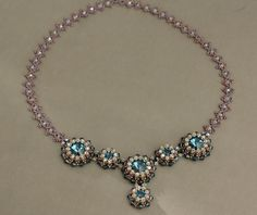 Blue Roses Necklace - Connecting the bezels and the chain P2