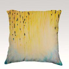 HGTV Featured Pillow MYSTIC GARDEN Velveteen Throw Pillow, Decorative Home Decor Colorful Fine Art Toss Cushion, Modern Bedroom Bedding Dorm Room Living Room Style Accessories by EbiEmporium, $75.00