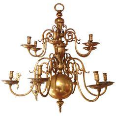 17th Brass Chandelier - Netherlands, circa 1600