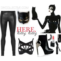 Hhhmmm cat woman for halloween i already have the leather pants diy halloween costume cat woman solutioingenieria Gallery