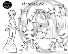 black and white paper dolls to color, so cute