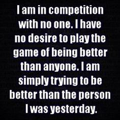 I know who I am and what I'm capable of. I know my worth.