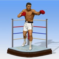 Muhammad Ali is an American former professional boxer, generally considered among the greatest heavyweights in the sports history Information Overload, Traumatic Brain Injury, Danbury Mint, Muhammad Ali, Boxer, The Incredibles, Sculpture, Running, American