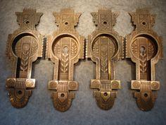 old door and locks | Antique Pocket Door Hardware