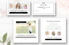 Photographer Referral Card Template by By Stephanie Design on @creativemarket