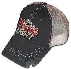 Coors Light Hat   Grey Trucker w  Opener Coors Light 8ff4c4e2a020