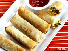 Spring rolls recipe with step by step photos. one of the delicious, crusty Chinese veg spring rolls i ever made in restaurant style