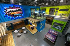 "Ken Block's Insane Recycled Shipping Container ""Hoonigan"" HQ - http://www.gatewaycontainersales.com.au/ken-blocks-insane-recycled-shipping-container-hoonigan-hq/"