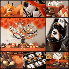 Halloween is almost here. Booooo… I am sure you guys are planning for Halloween party for your own. Well, have a look at this amazing Halloween party ideas to get … Halloween Desserts, Spooky Halloween, Halloween Wedding Decorations, Halloween Dessert Table, Bonbon Halloween, Party Decoration, Halloween Trick Or Treat, Holidays Halloween, Halloween Treats