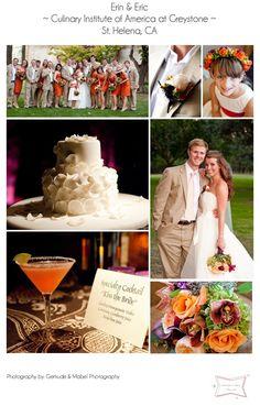 my orange and purple fall wedding