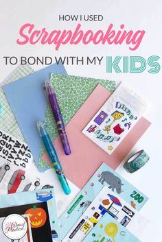 How I used scrapbooking to bond with my teenage kids. A parenting DIY that you can't afford to miss - your relationship will benefit from it.