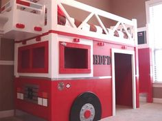 modified loft bed for a firetruck!