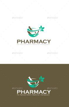 Pharmacy Wellness Herbal Care (Vector EPS, AI Illustrator, Resizable, CS, green, herbal, Herbal Medicine, herbal medicine logo, herbal pharmacy, herbal potion logo, hospital, leaf, medicine, nature logo, Nature Medicine, naural, pharmacy)
