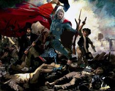 Thor Leading the People by Delacroix and Jesse Hartmann!