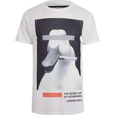 White FATHERDUCK smoking duck t-shirt £27.00 Roupas 390a3f4002b