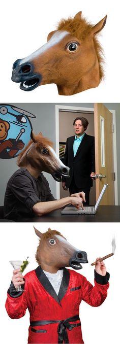 The Horse Head Mask http://gizmosandgadgets.org/horse-head-mask/