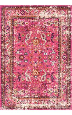 Pink and pink with Rugs USA's Chroma Rosy Floral CB18 Rug!
