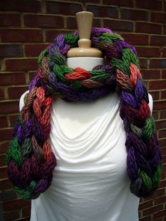 Wink scarf. Just an i-cord made with the super bulky Berroco Link yarn.