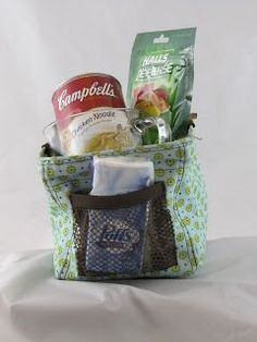 Thirty one littles carry all as a get well basket.