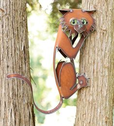 Climbing Cat Metal Wall Sculpture