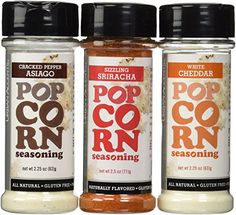 Popcornopolis 7 cone variety popcorn gift basket gluten free urban accents all natural gluten free premium popcorn seasoning variety pack cracked pepper asiago sizzling sriracha white cheddar click image for more negle Choice Image