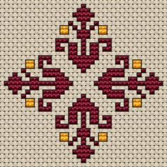 Small Decorative Motif free cross stitch pattern from Alita Designs