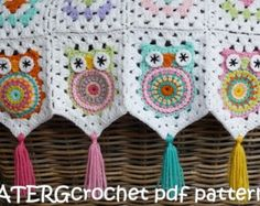 Crochet pattern OWL key ring by ATERGcrochet by ATERGcrochet