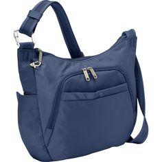 "Travelon - Anti-Theft Classic Crossbody Bucket Bag, 14"" x 10"" x 4"" (Sku 42757) (Midnight) (a)"