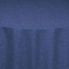Dark Blue Denim Faux Table Linen
