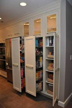 Home Organizing Ideas - Hidden Kitchen Storage