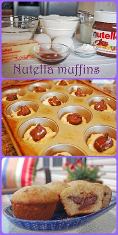 DIY Nutella Muffins Pictures, Photos, and Images for Facebook, Tumblr, Pinterest, and Twitter