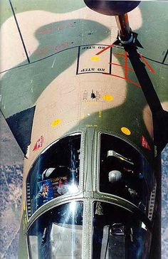 F-111 refueling.  Co-pilot checking the specs.
