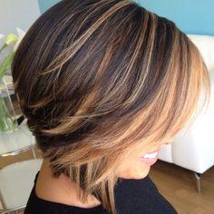 Balyaj Ideas for Short Hair Hair Highlights Layered Bob Hairstyles, 2015 Hairstyles, Black Hairstyles, Trendy Hairstyles, Glamorous Hairstyles, Summer Hairstyles, Amazing Hairstyles, Short Brunette Hairstyles, Straight Hairstyles