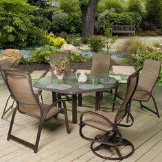 Patio Furniture | Primera Aluminum Sling Patio Groupings   American Sale