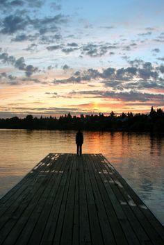 Sunset at Green Lake in Seattle Washington