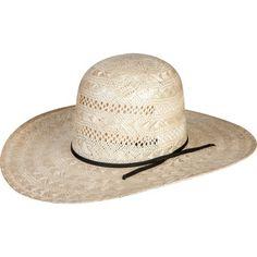 Rodeo King Rami Open Crown 4-1 2 Brim Straw Cowboy Hat 5ed25a0c4cdf